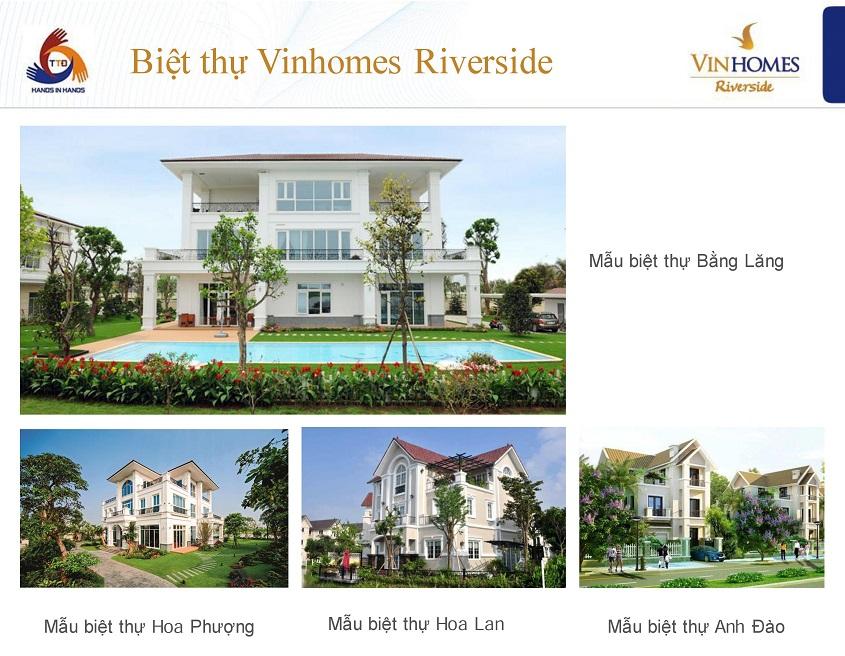 Một số mẫu biệt thự Vinhomes RiverSide