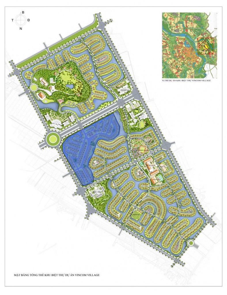 sơ đồ biệt thự Vinhomes Riverside Hoa Anh Đào