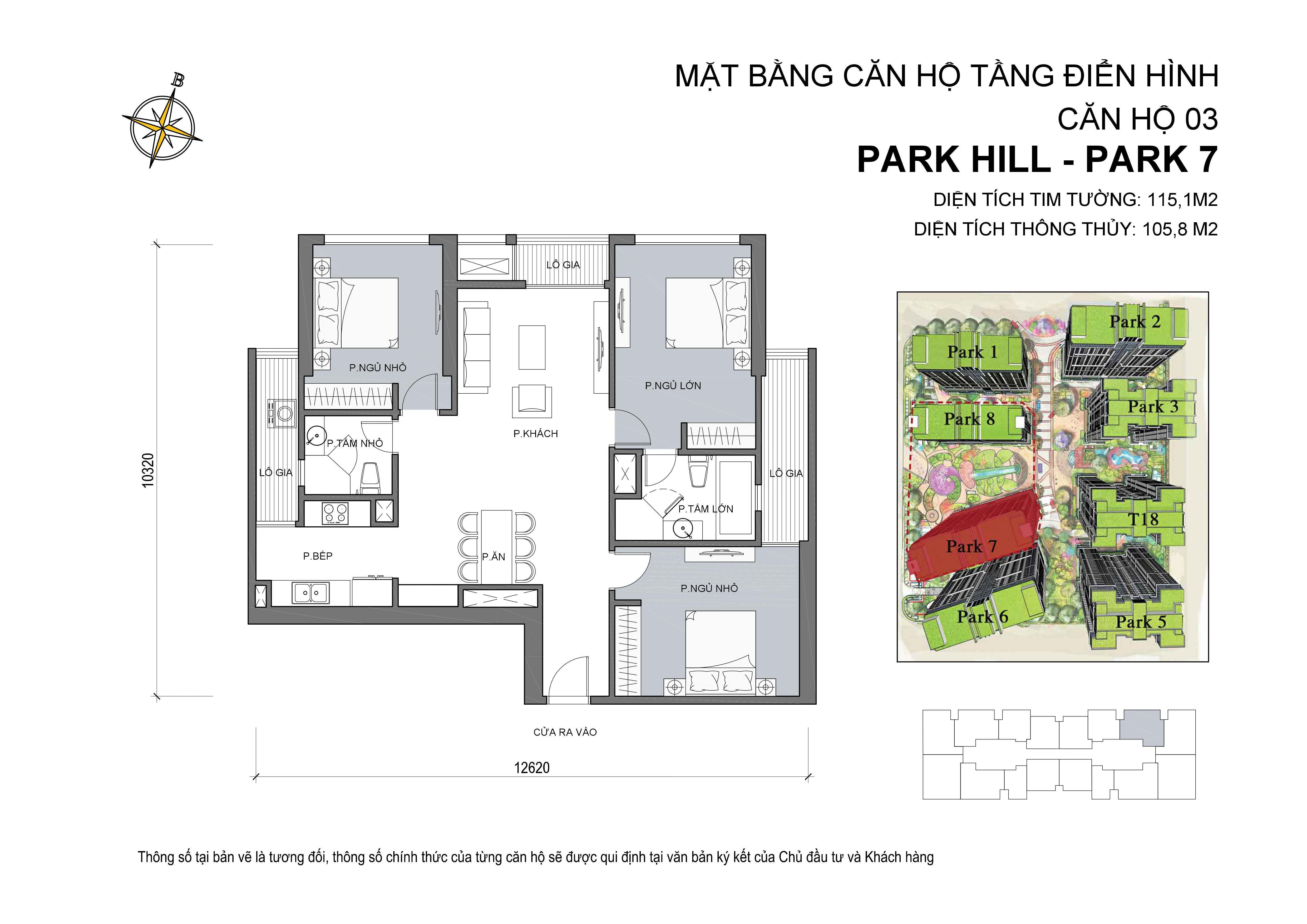 căn hộ 03 park 7  - Times City