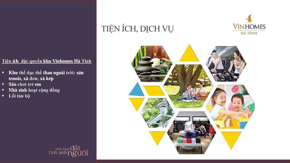 Rất nhiều tiện ích xanh, sinh hoạt dành cho cư dân Vincom Hà Tĩnh