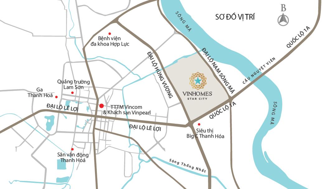 Vị trí dự án vinhomes star city thanh hóa